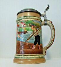 """Antique Matthias Girmscheid Beer Stein circa 1900 Germany 7"""""""