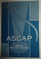 ASCAP Pop Music Awards 2003 Souvenir Program - Nelly, Seven, Elvis Costello .