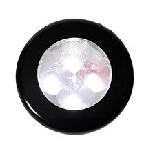 12V LED Round Interior Accent Light with Black Bezel