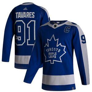 Men's Toronto Maple Leafs adidas Blue 2020/21 Reverse Retro John Tavares Jersey