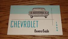 1960 Chevrolet Owners Operators Manual 60 Chevy Impalla Bel Air