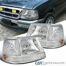 Ford 98-00 Ranger LED DRL Clear Lens Headlights+Corner Turn Signal Bumper Lamps