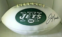 JOE NAMATH / NFL HALL OF FAME / AUTOGRAPHED NEW YORK JETS LOGO WHITE FOOTBALL