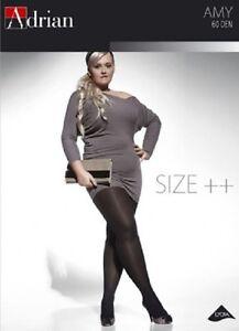 % GESCHÄFTSAUFGABE % Plus Size, Klassische elegante Strumpfhose, 60Den, XL-XXXXL