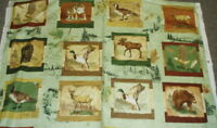 Wilderness Park wildlife blocks Wilmington panel fabric