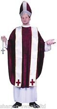 Mens 4 Pc Cardinal Priest Religious Vicars and Tarts Fancy Dress Costume Outfit