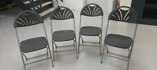 Folding Chairs Camping Metal Dining Chair Study Event Office Desk Garden Party
