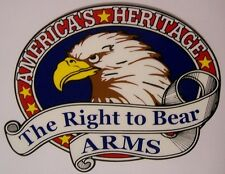 Window Bumper Sticker Patriotic 2nd Amendment Right to Bear Arms NEW Decal