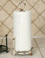 Primitive Rustic Feel on this Provincial Paper Towel Holder - Antique White