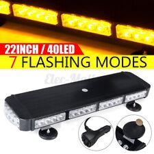 Roof Top Strobe Light Bar 120W LED Amber Emergency Warning Lamp Flash