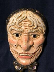 Vintage hand-painted line mask