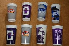 8 2012 & 2013 Purple and Blue Raising Cane's Collectible Les Miles Cups Lsu 32oz