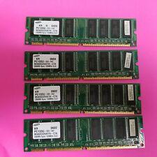 LOT OF 4 SAMSUNG 256MB PC133 DESKTOP SDRAM - M366S3253ETS-C7A