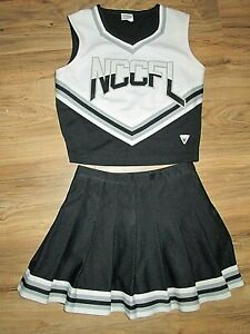 Cheerleader Uniform Outfit Adult Sizes M-Large Tops Fully Pleated Skirt Choose