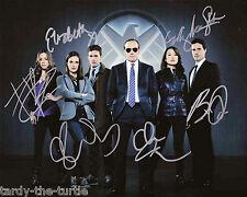 Agents of S.H.I.E.L.D Cast 8 x 10 Autograph Reprint Clark Gregg Ming-Na Wen +3
