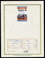 TUVALU RAILWAYS U.K. PROGRESSIVE PROOF 1985