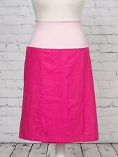 Hot Pink Linen Wrap Maternity Skirt Fingerprint Size UK M 12 - 14 NEW