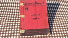 IH McCormick Deering WD9 WD 9 Tractor Instruction Book Owmer's Manual