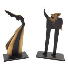 """PAUL WUNDERLICH - Original Bronzeskulpturenset """"FLÜGELFRAU UND FRAGENSTELLER"""""""