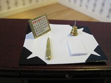 Dollhouse Miniature  Furniture  ~ Desk Blotter Set ~