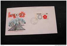 Canada 508p Expo 67 and 70 Emblems Winnipeg Tagged with first day cancel 1970