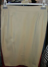 ESCADA by MARGARETHA LEY Wool SKIRT Cream Jupe 42 8 AsNEW See STORE for Jacket