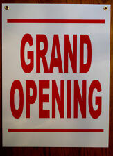 Grand Opening Coroplast Sign with grommets 18x24 New
