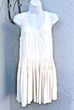 JOIE White BABYDOLL Ivory Cocktail Summer Sheer Ballet White SILK Dress XS 2