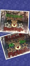 Christmas At The Surname Sign - Reindeer Plaque - Christmas Family Plaque