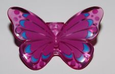 Lego Trans-Dark Pink Minifig, Wings Butterfly with Magenta and Blue Pattern