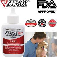Zy-mox Plus Advanced Formula 1% Hydrocortisone Otic Dog&Cat Ear Solution 1.25oz