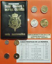 ESPAÑA CARTERA 1993 SC 1+5+10+25+50+100+200+500 PESETAS JUAN CARLOS I NO FNMT