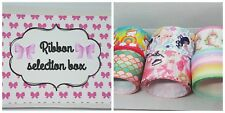 Grosgrain Ribbon selection bundle box crafts Hair Bow making 38 50  mm