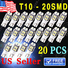 20 x T10 W5W 2825 192 194 168 501 Car White 20 SMD LED Side Wedge Light Bulb 12V