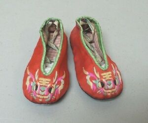 19th C. Chinese Silk Embroidered Child's Shoes / Slippers