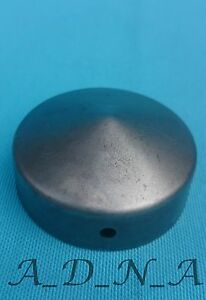 BARE/GALVANIZED PYRAMID ROUND METAL FENCE POST/RAILING /TUBE /PIPE CAP/END Ø48mm