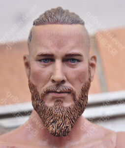 1/6 Head Sculpt Viking Travis Fimmel Vikings For Muscle Body Hot Toys