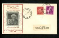 US Postal History Inventions Edison Electric Lamp 1954 Los Angeles CA #655 + 945