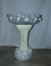 1081-801: Marble Pedestal Sink with Sea Shell Decorations