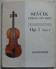 Sevcik opus 7 part 1, méthode de violon
