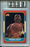 1986 Fleer Basketball #121 Dominique Wilkins Rookie Card RC Graded BGS MINT 9