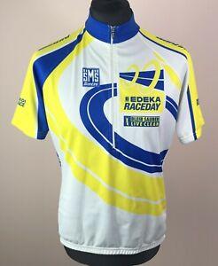 Vintage SMS Santini Cycling Jersey Men's Size XL 1/2 Zip Short Sleeve Bike Shirt