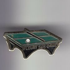 RARE PINS PIN'S .. SPORT PING PONG TENNIS DE TABLE CLUB FLEURY SUR ORNE 14 ~D1
