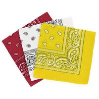 Bandanas paisley lot de 3 - Bandeau Foulard coton motif cachemire, accessoi S1K1