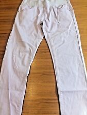 Maternity Under The Bump Lilac Skinny Trousers Jeans Size 10 Leg 30