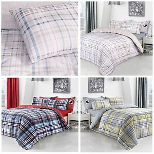 Check Duvet Cover Bedding Quit Cover Set With Pillow Case All Sizes Red Yellow