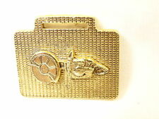 Nice Vintage Homelite Cut Off Saw Deep Relief Textured Brass All Metal Watch Fob