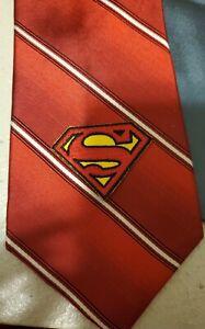 Mens Silk Tie Superman Shield