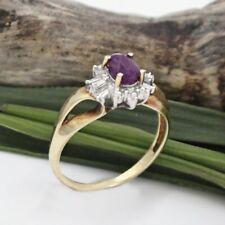 10k Yellow & White Gold Estate Ruby And Diamond Ring Size 7