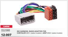 CARAV 12-007 Conector ISO OEM Radio Adaptador CHRYSLER 2001+, JEEP 2002+